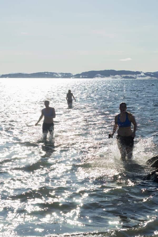 Bading i fjorden