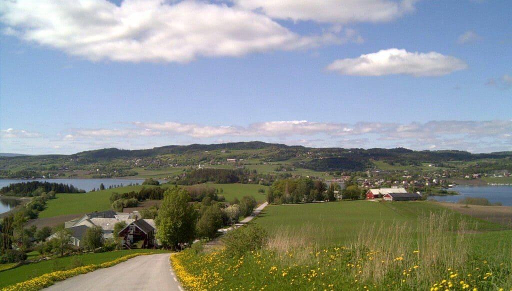 Utsikt fra Roelsbakken
